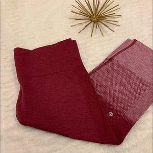 NWOT Lululemon Red Capri Leggings Size 10